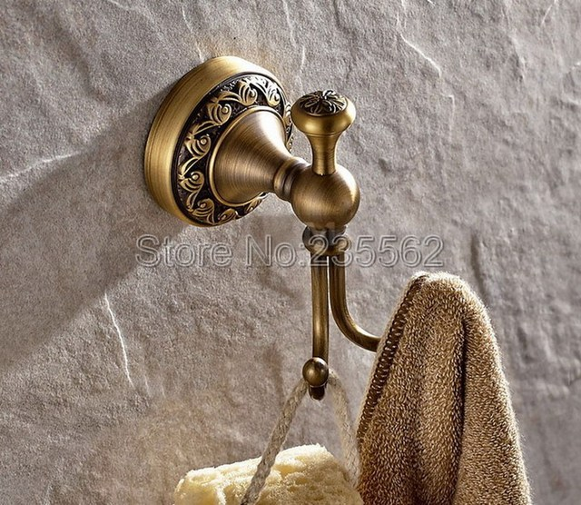 Klassieke Antiek Messing Badkamer Haken Kleding Handdoek Haak ...
