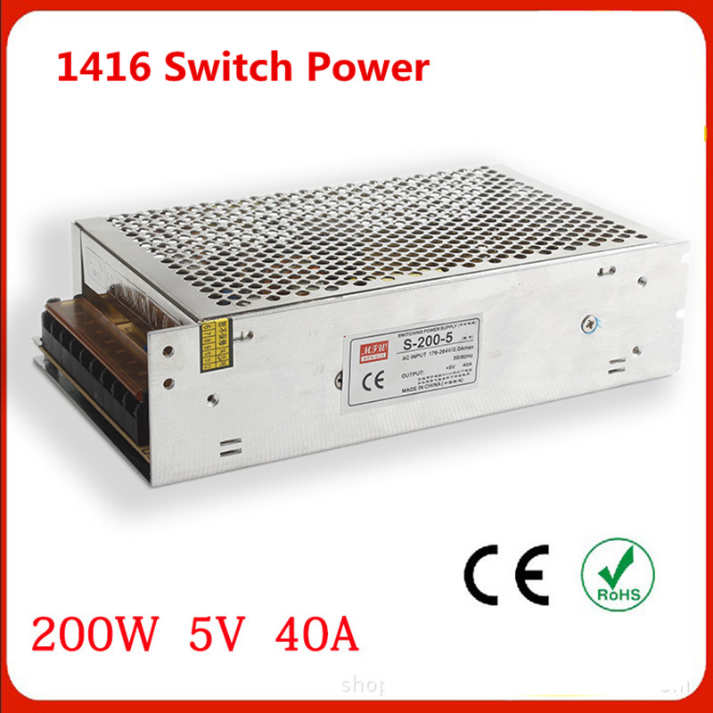 ФОТО Output 200W 5V 40A Switching power supply S-200w-5v LED monitor access power supply Dc power supply equipment power supply