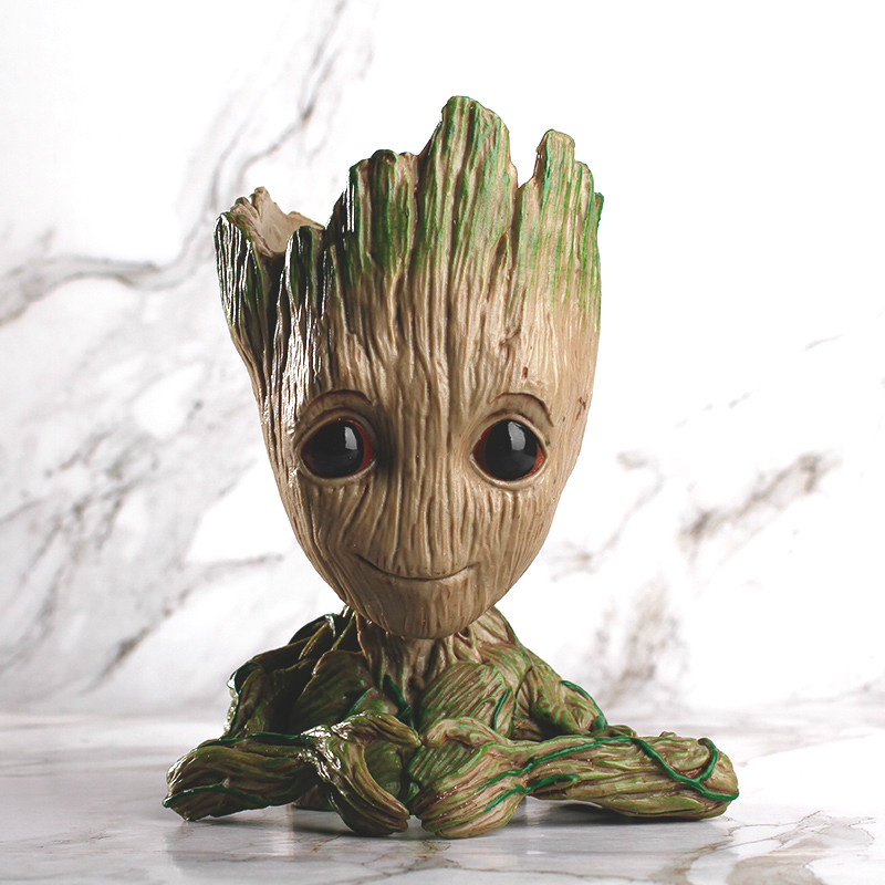Guardians of The Galaxy 2 3 Flowerpot Baby Action Figures Cute Model Toy Pen Pot Best Christmas Gifts For Kids Home Decoration
