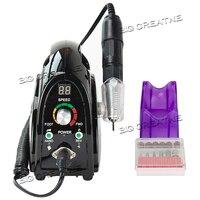 35000 RPM Salon Portátil 110 V/220 V Prego Broca Vidros Manicure Máquina Arquivo Acessório Pedicure ferramentas da arte do Prego Conjunto Kit