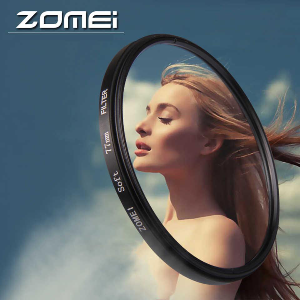 Zomei filtro para câmera softlente 52/55/58/62/67/72/77/82mm difusor de lente de foco macio, filtro sonoroso para dslr slr canon nike sony