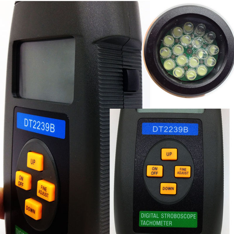 ФОТО Strobe tester Tachometer / stroboscope / digital stroboscope / speed measuring instruments genuine