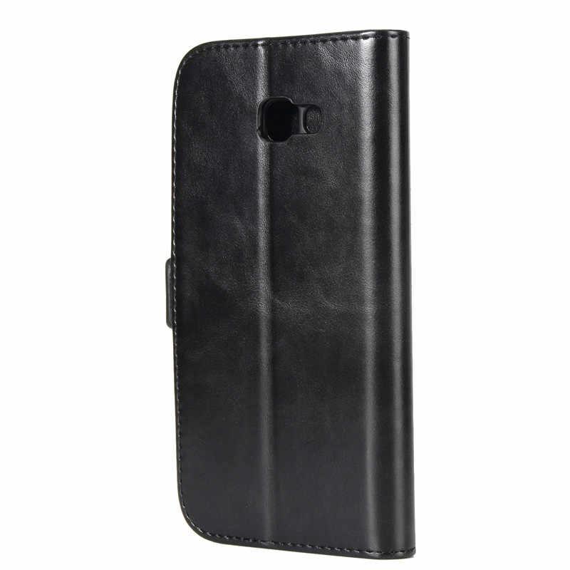 Для samsung Galaxy A7 2017 чехол Высокое качество Роскошный Флип кожаный чехол подставка для samsung A7 2017 A720 SM-A720F с держатель для карт