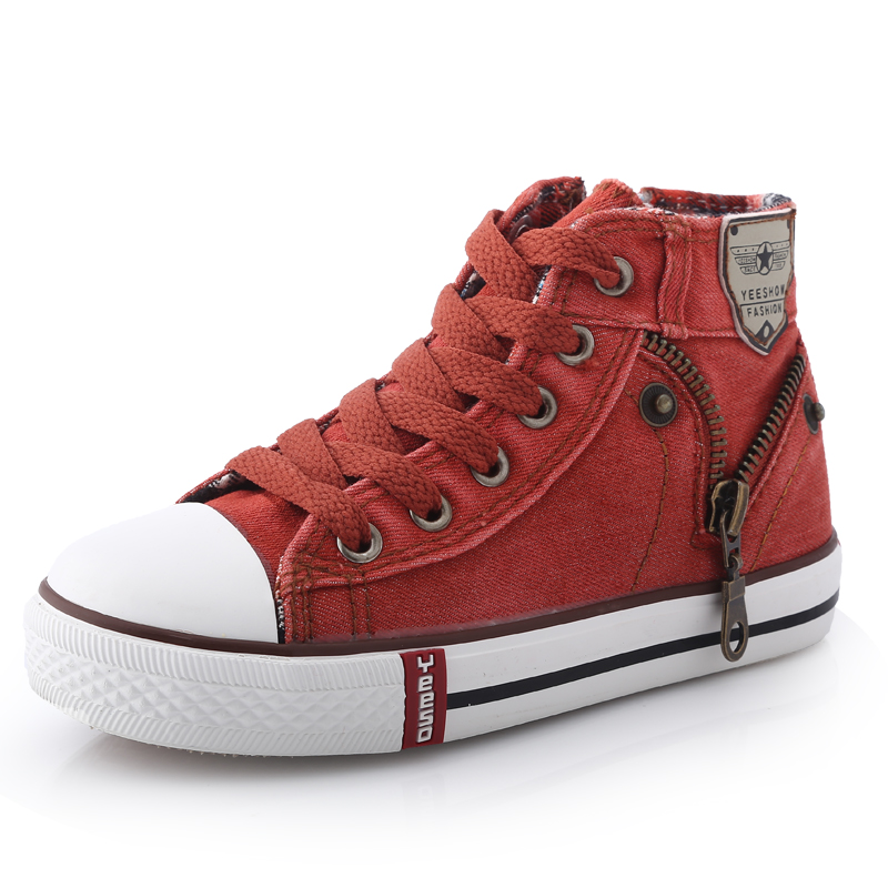13-kinds-New-Arrived-Size-25-37-Children-Shoes-Kids-Canvas-Sneakers-Boys-Jeans-Flats-Girls-Boots-Denim-Side-Zipper-Shoes-1