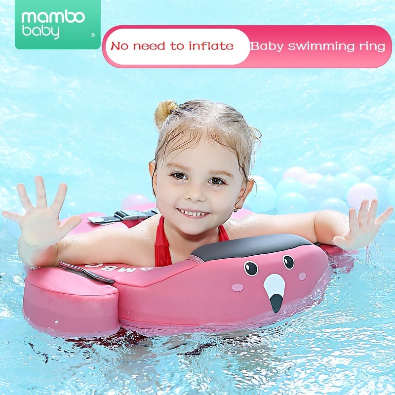Solid No Inflatable Safety Baby Swimming Ring Floating Swim Ring Float Swim Trainer Swimming Pool Suitable For 2-5 Years Old
