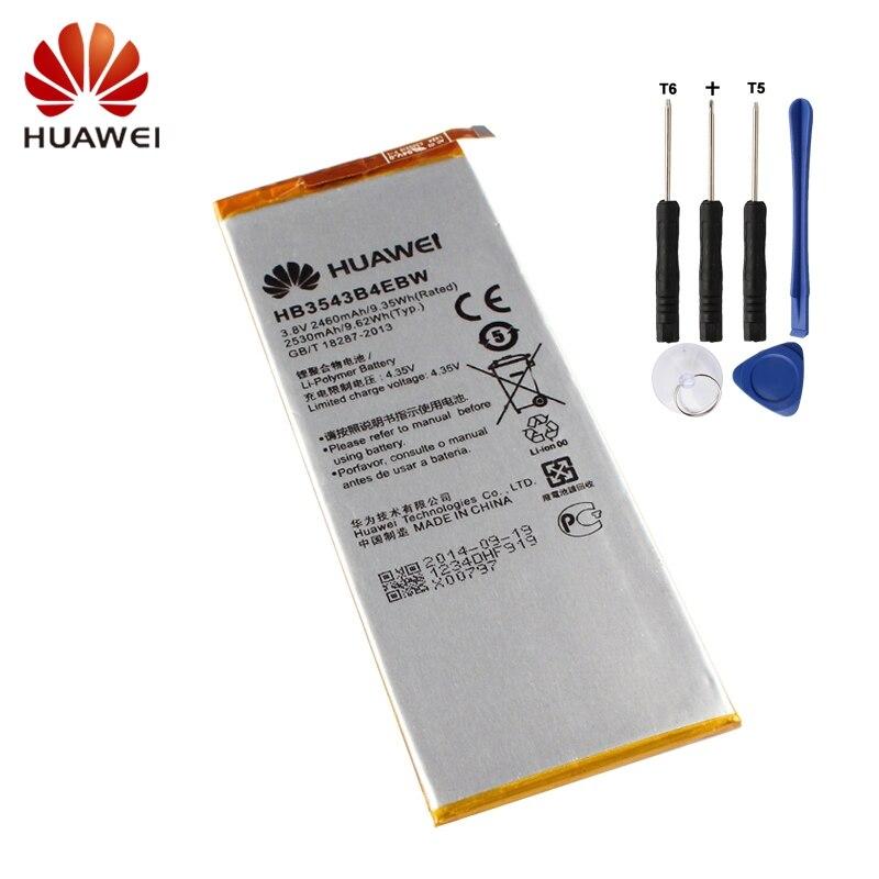 Cellphones & Telecommunications Hb3543b4ebw Hua Wei Original Phone Battery For Huawei Ascend P7 L07 L09 L00 L10 L05 L11 2460mah Replacement Batteries Free Tools