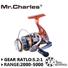 Mr Charles fishing club YA2000-5000 line capacity 2016 New orange 7BB+RB Spinning Fishing Reel Carp Fishing Wheel Spinning Reel