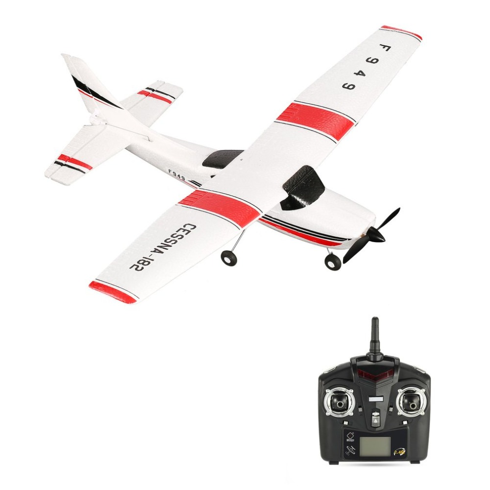 WLtoys F949 Radio Control RC Airplane 3 Channels 2.4GHz Fixed Wing RTF CESSNA-182 Plane Outdoor Drone Toy for Ages 14+ Children