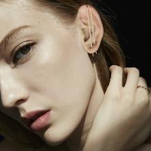 Handmade Earrings Brinco Jewelry Simple Unilateral Dual-Use Long Ear Pin Minimalist Vintage Jewelry Oorbellen Earring for Women