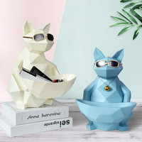 2 IN 1 Home Creative Cat Tissue Holder Phone Holder TV Remote Control Key Holder Living Room Coffee Table Decoration Best Gift
