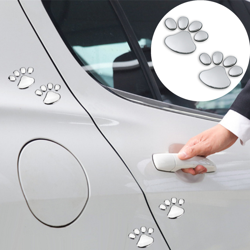 1 Paar Auto Aufkleber Pet Tier Pfote Fußabdrücke Auto Lkw Decor Für Ford Focus Kuga Fiesta Ecosport Mondeo Escape Explorer Rand