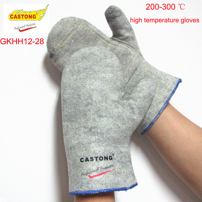 CASTONG GKHH12-28  High temperature gloves Para-aramid 200-300 degree fire gloves Economic section High temperature gloves шланг садовый economic трехслойный 1 20м