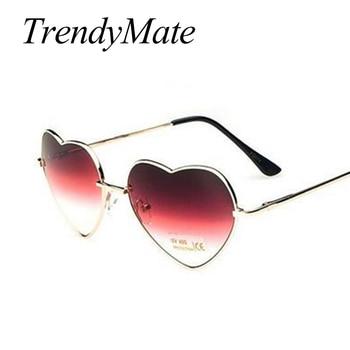 Love Shape Heart Sunglasses Women Brand Design Retro Alloy Frame Sun Glasses Vintage Mirror Sunglass Oculos De Sol Feminino M564 3