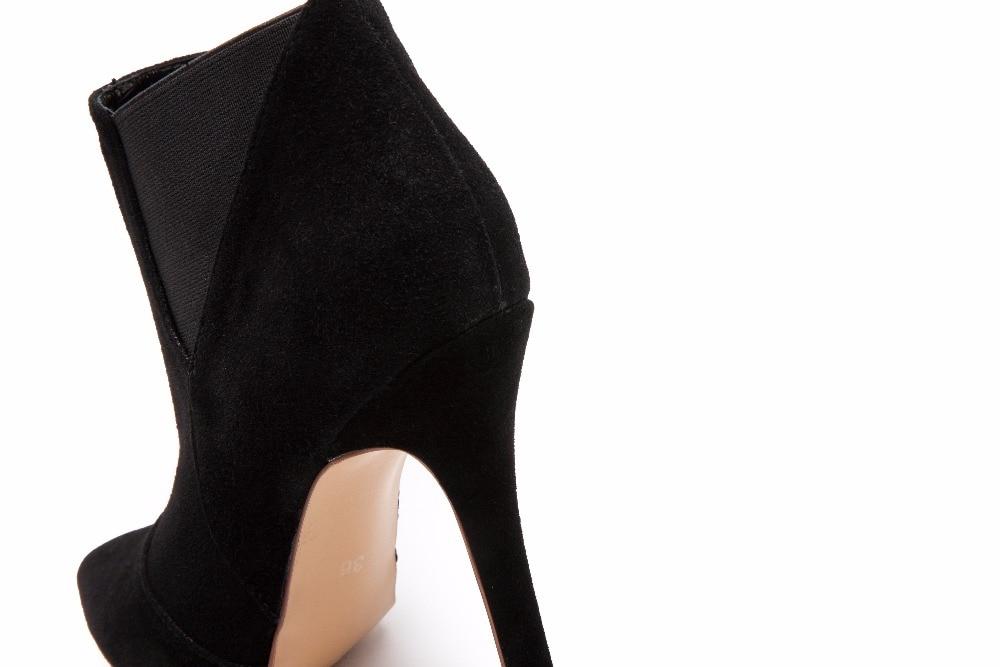 Suede Otoño Vaca Mujeres Moda Punta Estrecha Primavera Bombas Botines Las Partido De Talón Tacones Zapatos 34 Atractivo Fino Altos 41 Mujer wIxxdtfS