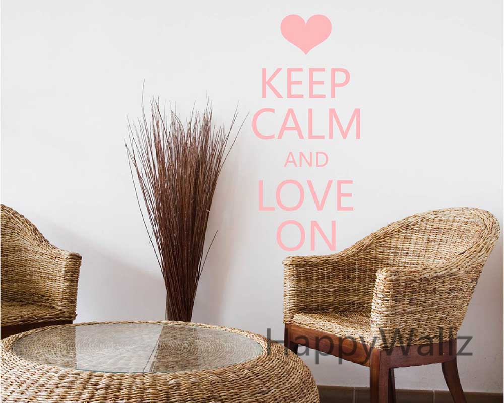 motivational keep calm love on quote wall sticker diy keep calm wall decal vinyl lettering wall