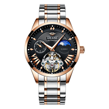 AILANG Luxury Brand Relogio Automatic Watch Men Waterproof Skeleton Tourbillon Watch 41MM Sapphire Crystal Mechanical Watch saat carnival men s waterproof tourbillon watch men gold stainless steel sapphire glass automatic mechanical watch relogio masculine