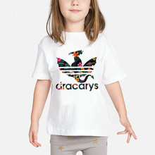 Dracarys Baby Girls T Shirt 2019 Game of Thrones Daenerys Kids Clothes Mother Of Dragon Children Summer t shirt Khaleesi Costume цена и фото