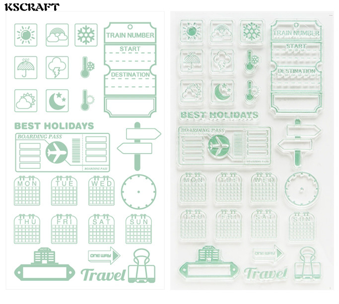 KSCRAFT Best Holidays Transparent Clear Silicone Stamp/Seal for DIY scrapbooking/photo album Decorative clear stamp sheets kscraft love travelling transparent clear silicone stamp seal for diy scrapbooking photo album decorative clear stamp sheets