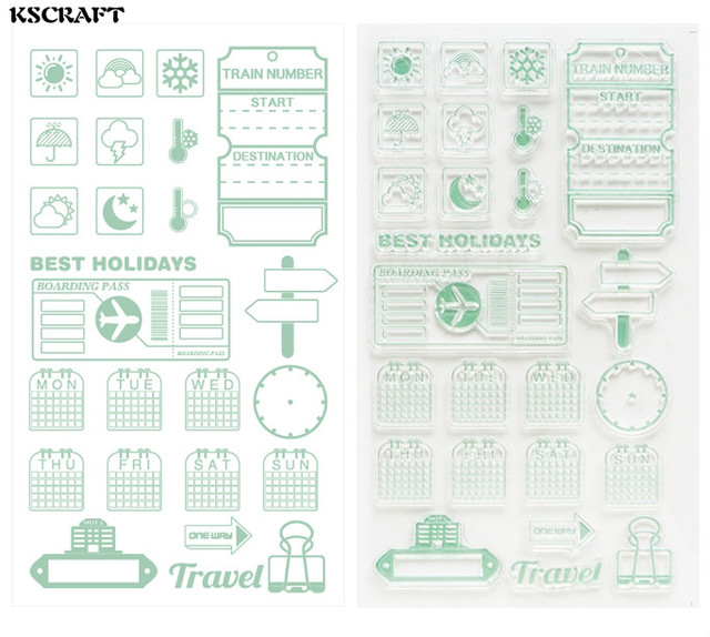 kscraft best holidays transparent clear silicone stamp seal for diy