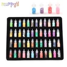 48Pcs Glitter Filler Charms for Filler Fluffy Clay Slime Box Toys for Children Slide Magic Slimes DIY Accessories Kit Supplies