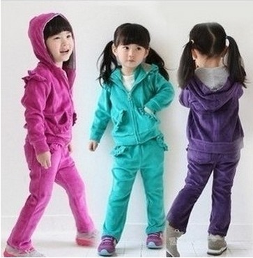 sale new 2016 childrens girl clothing velvet set girls sports suit top+pants 2 pieces set female child baby twinset sportswear  europe hot sale baby girls long sleeve velvet plaid top pant suit fashion childrens casual clothes princess clothing 16d1224