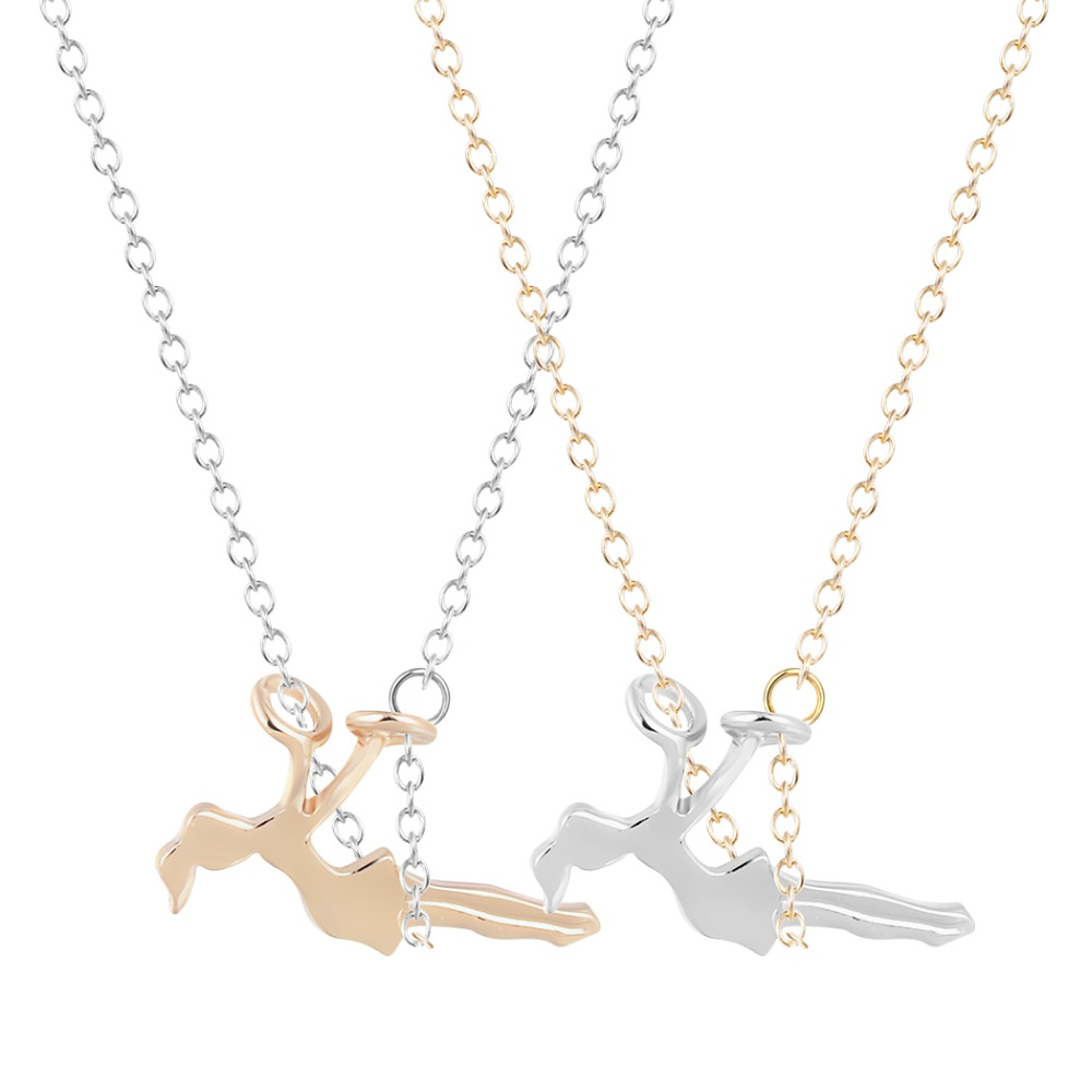 online get cheap swinging girl necklace