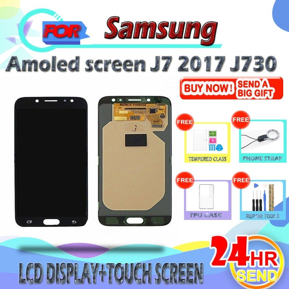 SzHAIyu testé OLED AMOLED écran LCD pour Samsung Galaxy J730 J7 2017 + écran tactile LCD affichage numériseur assemblée avec Toos