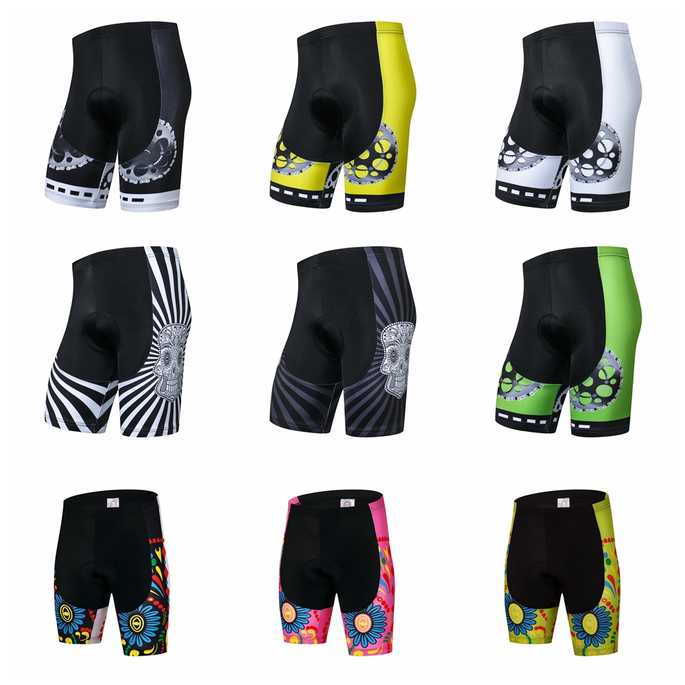 2019 Bike shorts Men's Cycling Shorts 3D Padded pro MTB Road shorts Bottom Team bicycle short sleeve Black White yellow red