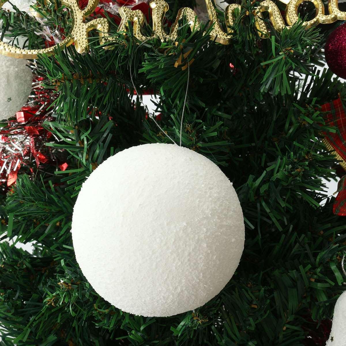 743 tags christmas decorations festival holiday christmas tree views - 6pcs Bag 6cm 8cm 10cm Snowball Christmas Decoration Supplies Tree Pendants New Year