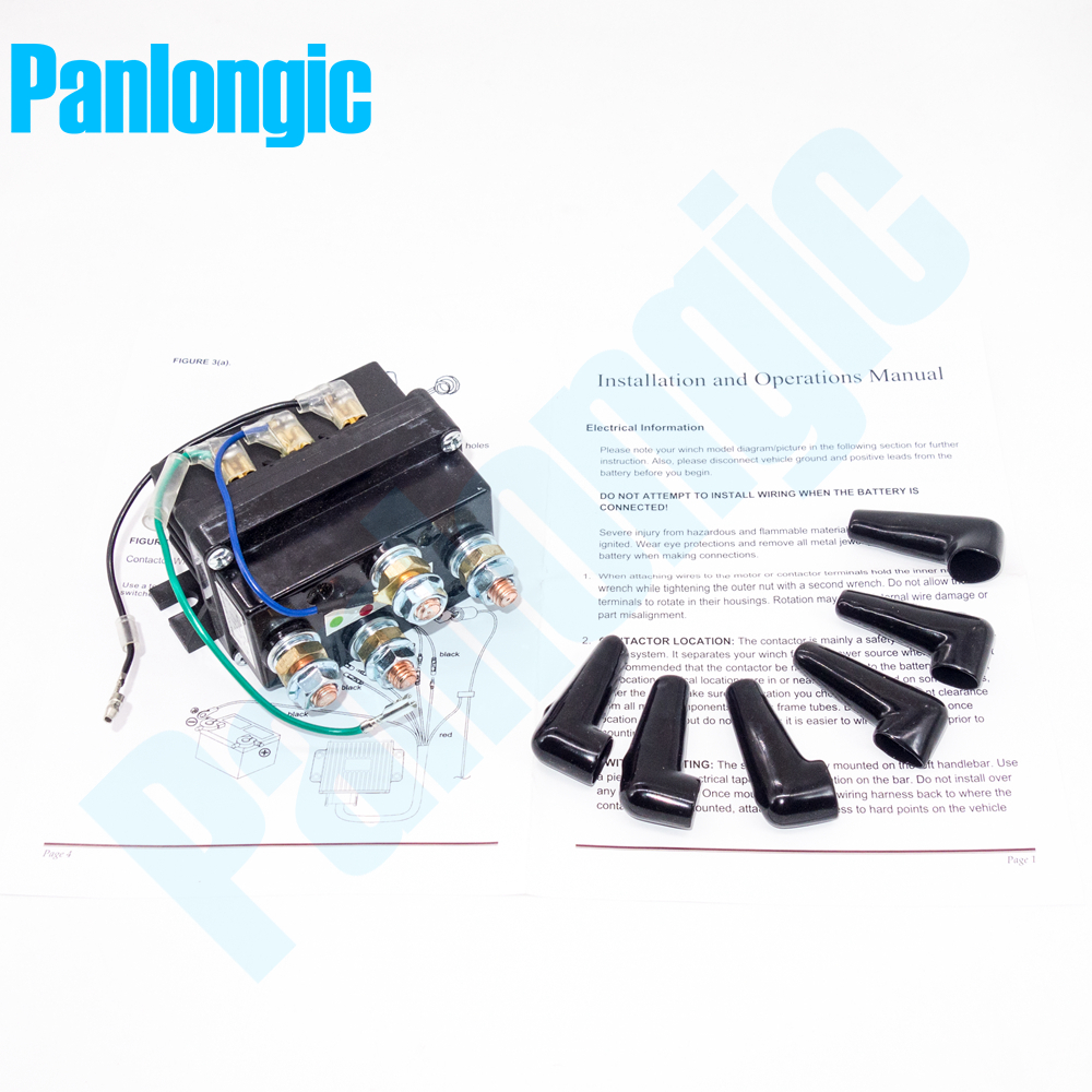hight resolution of 12v 500a electric winch solenoid relay rocker switch with caps for atv utv truck black metal