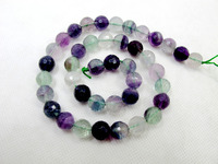 100 Natural Multi Rainbow Fluorite Stone Bead 10mm Faceted Round Loose Stone Jewelry Bead For Jewelry