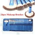 Vander Pro 24 PCS Escovas Cosméticas da Composição Kit Rosto Blush Lip Pincel kabuki Sintético MULTIUSO pincel maquiagem