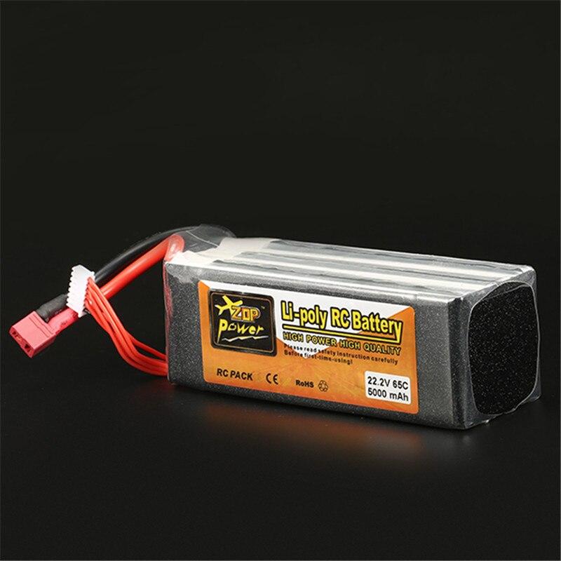 بطارية ليثيوم بوليمر قابلة للشحن زوب الطاقة 22.2 V 5000 mAh 6 S 65C يبو البطارية T التوصيل-في قطع غيار وملحقات من الألعاب والهوايات على  مجموعة 1