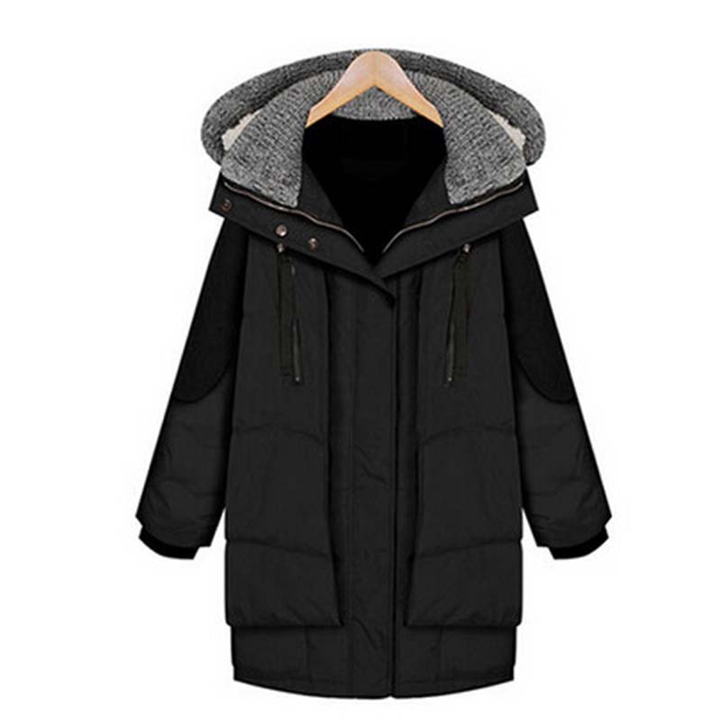 2016 new winter  thick long down jacket women Hooded  loose plus size down jacket coat women White Duck Down 90% Jacket AE344 360 degree rotating protective pu case w card slots for google nexus 7 ii black