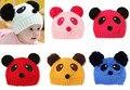 Los bebés de la muchacha niños del niño recién nacido niños solid panda bebe capó sombrero cap beanie accesorios del pelo headwear