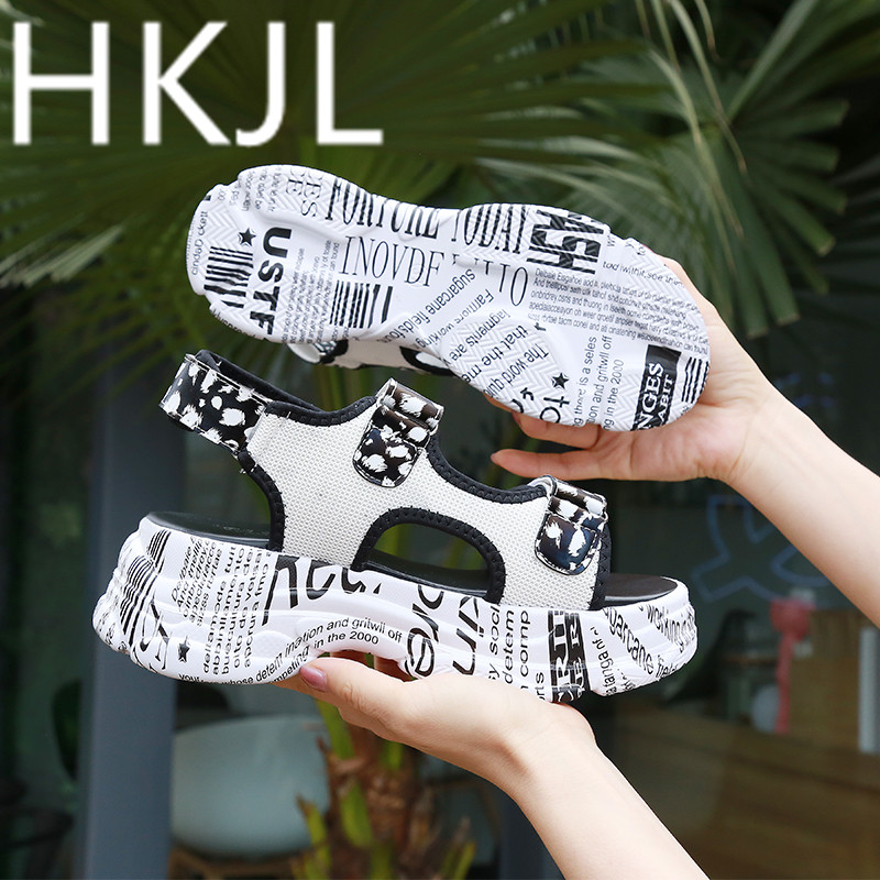 HKJL Fashion Sporty sandals ins ultra hot new 2019 Korean version go with platform beach gladiator shoes A369HKJL Fashion Sporty sandals ins ultra hot new 2019 Korean version go with platform beach gladiator shoes A369