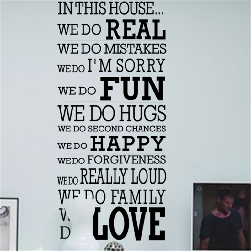 Aliexpress.com : Buy House Rules Family Love Vinyl Wall Stickers Quotes  Living Room Home Wall Art Decorations Posters Diy Black Decals From  Reliable Vinyl ... Part 79