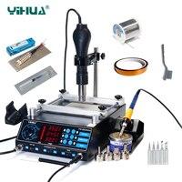 YIHUA 853AAA Bga паяльная станция горячий воздух для поверхностного монтажа пистолет паяльник Preheating станция функции 3 в 1 BGA паяльная станция