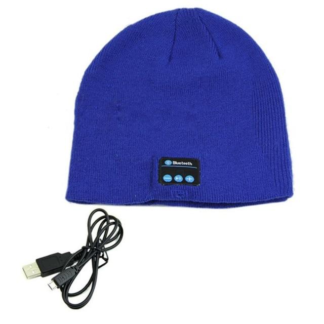 Hot Winter Warm Beanie Hat Wireless Bluetooth Smart Cap Headphone Casual  Headset Speaker Mic 97c219219886