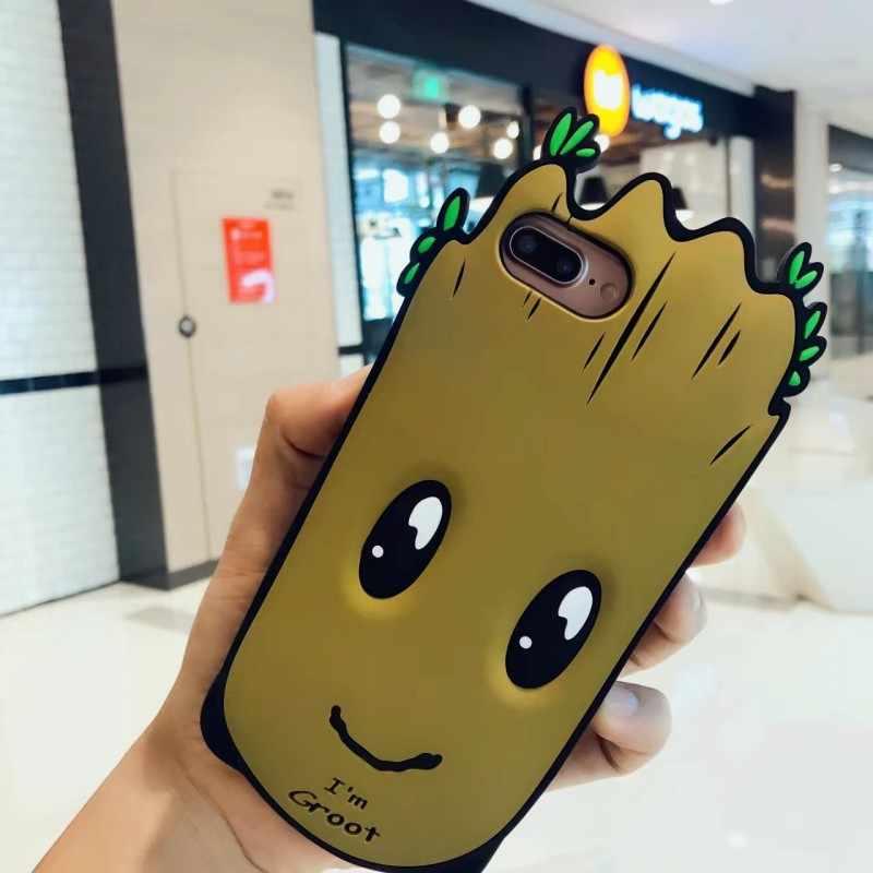 Ruicaica I Am Groot Tpu Soft Silicone Transparent Phone Case