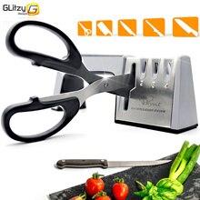 Точилка для ножей, 4 этапа, Профессиональная кухонная заточка, камень, ножницы, точильный станок, ножи, вольфрам, Алмазный керамический точильный камень, инструмент