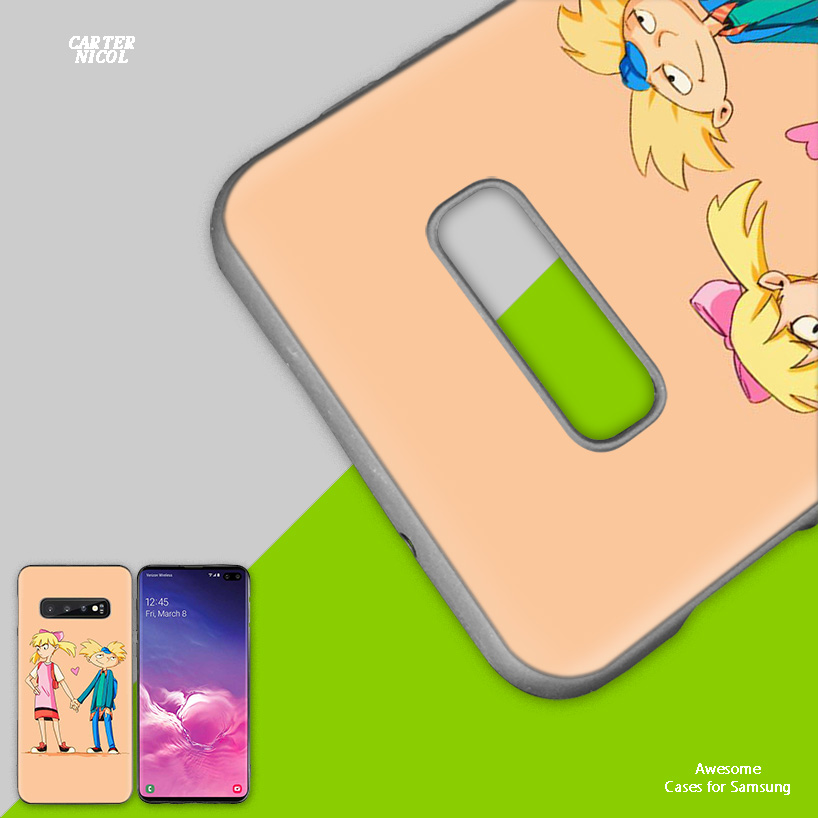 Hey Arnold Black Silicone Case Cover for Samsung Galaxy S10 S10e 5G S9 S8 S7 S6 Edge J8 J6 J5 J4 Plus 2018 Phone Bags Protector in Fitted Cases from Cellphones Telecommunications