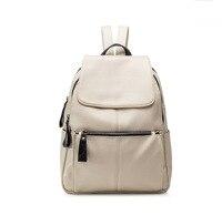 2017 Women Soft Genuine Leather Backpack Vintage Casual Bags Female Shoulder Bags Female New Korea Fashion