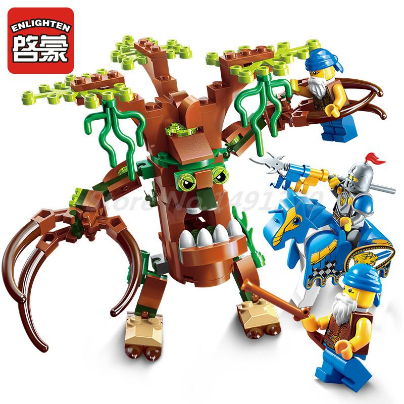 ENLIGHTEN 2302 The War Of Glory Series Encircle The Tree Building Blocks Set Bricks Educational Toys For Boy Christmas Gifts конструктор enlighten brick the war of glory 2315 casle silver hawk 656 дет 243959
