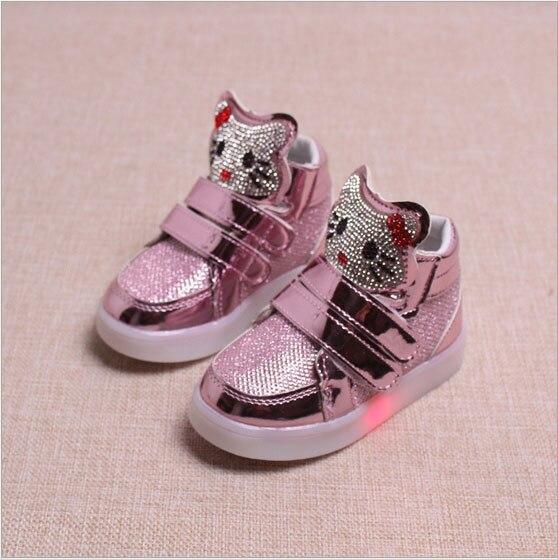 baby trainer kids tenis Children Light Up Sneakers boys