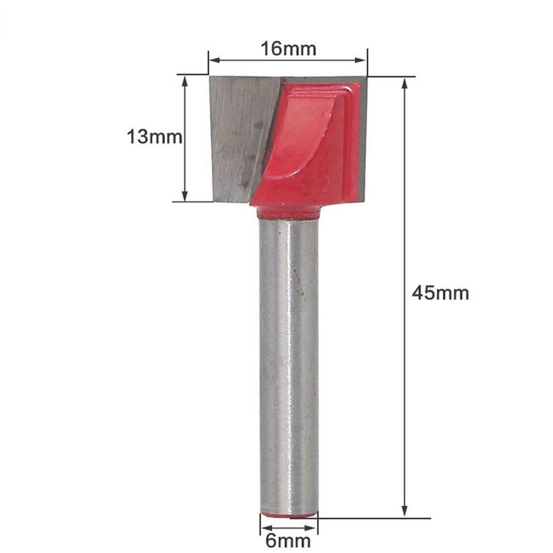 6 мм хвостовик резец по дереву гравировальный Нож хвостовик фрезы Фрезы для резки древесины для мельницы Деревообрабатывающие инструменты 10 мм-32 мм - Длина режущей кромки: 6mm 16mm