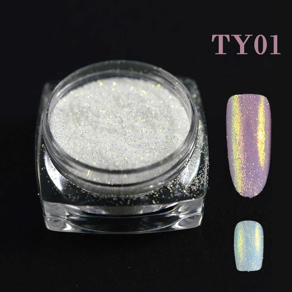 Açúcar 1g Dazzling Glitter Holográfico Pigmento Nail Art Glitter Pó Sereia Brilho Em Pó Decoração de Unhas Manicure TRTY01-05