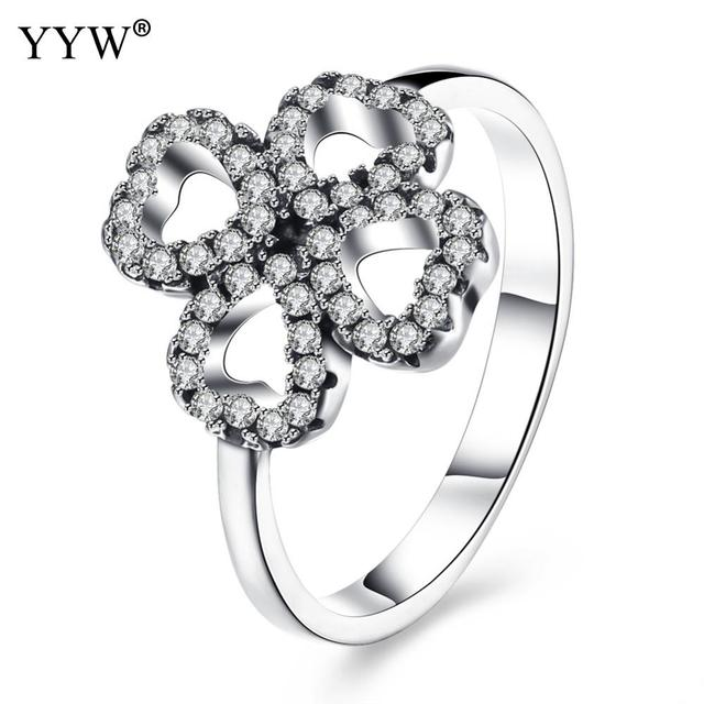 simulation ring gold plated wedding bride high jewelry gifts clover product rings