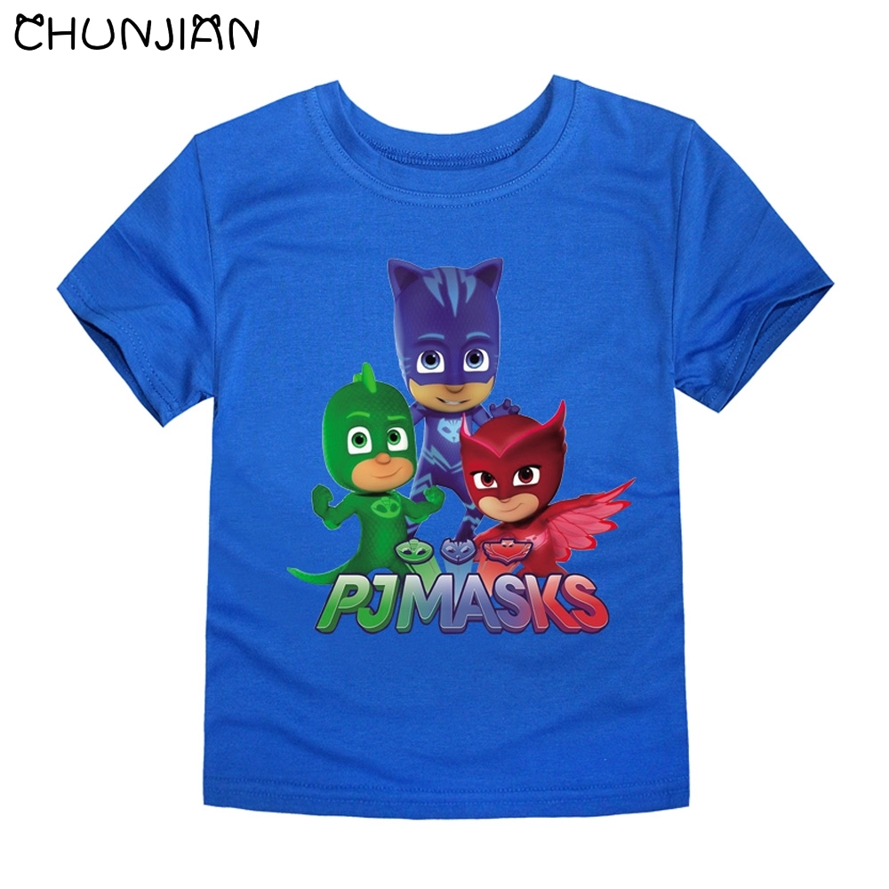 Chunjian Boys Cartoon T Shirts Children Short Sleeve Kids