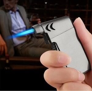 Image 3 - New Compact Butano Getto Più Leggero Torcia Turbo Fuoco Accendino Fuoco Pistola A Spruzzo Antivento In Metallo Tubo di Sigaro Accendisigari 1300 C NO GAS